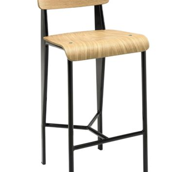 Prouve Style Counter Stool - Natural and Black