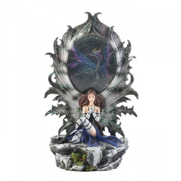 Fairy And Dragon Lighted Figurine