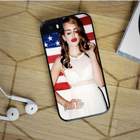 lana del rey sexy kiss and american flag iPhone 5(S) iPhone 5C iPhone 6 Samsung Galaxy S5 Samsung Galaxy S6 Samsung Galaxy S6 Edge Case, iPod 4 5 case