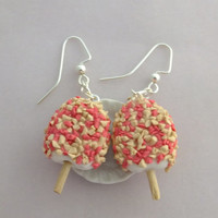 Strawberry Shortcake Ice Cream Earrings-Ice cream truck collection