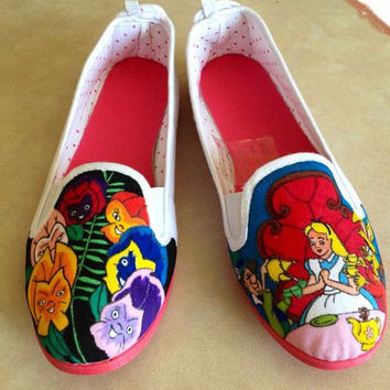 Disney Alice in Wonderland STYLE canvas shoes