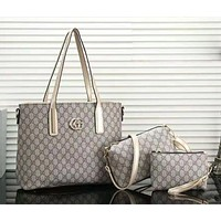 GUCCI Women fashion new more letter shopping leisure leather shoulder bag three piece suit bag