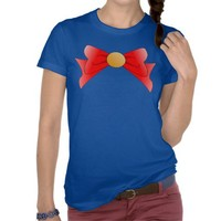 Sailor Superhero Bow Magical Girl Red Shirts from Zazzle.com