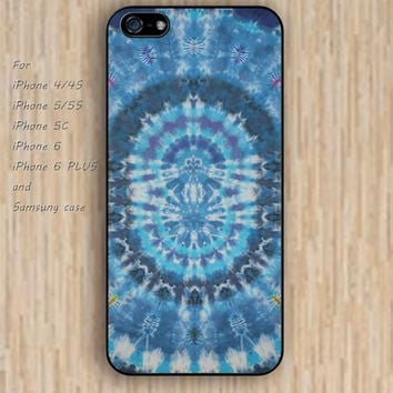 iPhone 5s 6 case colorful blue mandala phone case iphone case,ipod case,samsung galaxy case available plastic rubber case waterproof B318