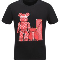 Best Deal Online Men's Supreme X LV Louis Vuitton Black White T Shirt