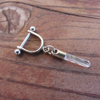 16 18 Gauge Helix Cartilage Bar Quartz Crystal Point Charm Dangle 16g G Industrial Barbell Upper Ear Piercing Earring