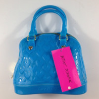 BETSEY JOHNSON Quilted Heart Jelly Dome Satchel