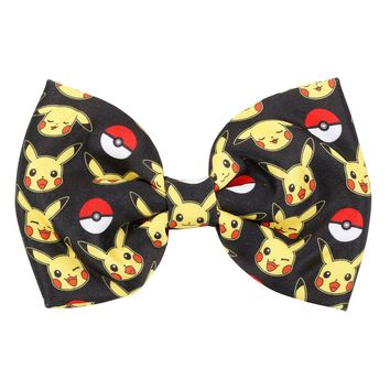 Licensed cool Pokemon GO Pikachu Poke Ball Cosplay Cheer Hair Bow Pin Clip Dress-Up Nintendo