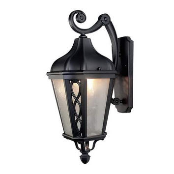 LNC Outdoor Wall Sconces with Frosted Glass Shade, Black Finish