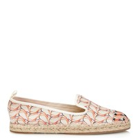 Bird-print leather and canvas espadrilles | Fendi | MATCHESFASHION.COM US
