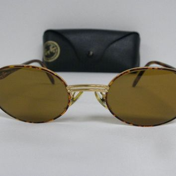 Vintage B&L Ray Ban Rituals Amulet Gold Cappuccino W2543 B-15 Brown Oval