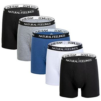 ILUVIT Mens Underwear Boxer Briefs Ultra Cotton Underwear Men Pack Of 5 Contoured Pouch