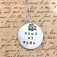 Hamilton The Schuyler Sister MIND AT WORK Charm Necklace