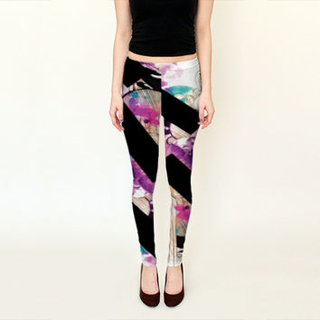 Printed Leggings - Leggings - Purple yoga pants - Printed yoga pants - Yoga Wear - Yoga gift - Fall trends - tights