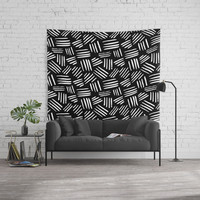 black mudcloth 2 Wall Tapestry by Sylvia Cook Photography