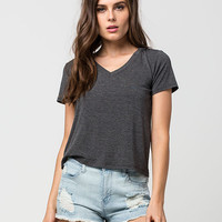 FULL TILT Womens V-Neck Tee | Knit Tops & Tees