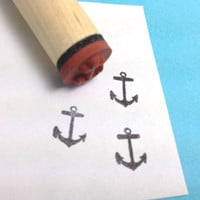 Tiny Anchor Rubber Stamp Nautical Pirate