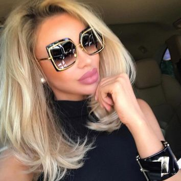 Cat Eye Pink Sunglasses Woman Shades Mirror Female Square Sun Glasses For Female Coating Gafas 2018 Fashion Brand Sunglasses Men