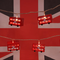 London Bus 6 String Lights by Think Gadgets