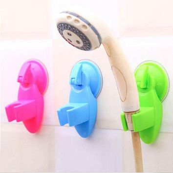 DCCKL72 1pc New Portable Adjustable Home Bathroom Shower Head Stand Over Wall Vacuum Suction Cup Mounting Tool 4 Colors