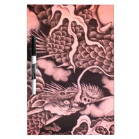 Cool traditional Japanese Dragon Texture Dry Erase Board
