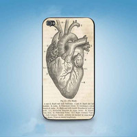 Vintage Medical Anatomical Heart customized for iphone 4/4s/5/5s/5c ,samsung galaxy s3/s4/s5 and ipod 4/5 cases