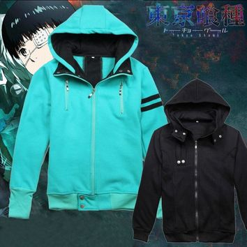 2 Colors Tokyo Ghoul Kaneki Ken Hoodie Cosplay Costume  Unisex Hooded Cardigan Jacket