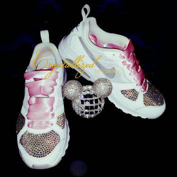 ... pretty cheap ba0d9 5d370 Gorgeous Swarovski Crystal Bling Bling Nike  Air Max Air Sneakers ... 2d8e3660a5