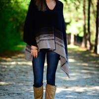 The Nomad Poncho, Black