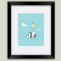 The Happy Panda Framed Art Print by happypanda on BoomBoomPrints