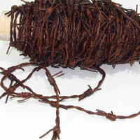 Leather barbed wire, 5 yards of a antique brown color made with 2 mm leather cords.... 576