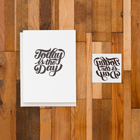 Today Is the Day (Tattly Card)