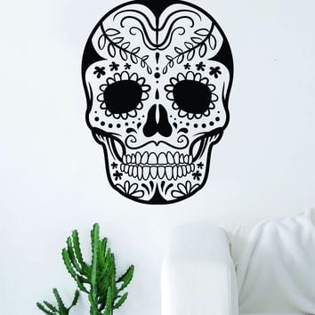 Sugar Skull V14 Art Wall Decal Sticker Vinyl Living Room Bedroom Decor Teen Day of the Dead Rose