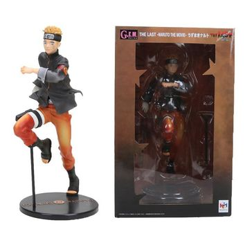 Naruto Sasauke ninja 23cm Anime Japanese  Action Figures Running Shippuden The Last  the Movie GEM Figure PVC Figurine model Toys gift AT_81_8