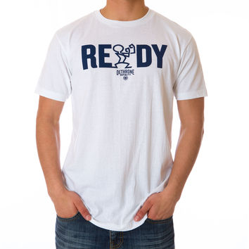 READY TEXT TEE - White