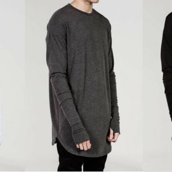 Nacko Long sleeve O-neck shirt with Thumb whole
