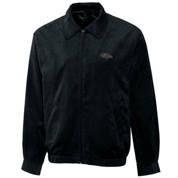 Cutter & Buck Baltimore Ravens Microsuede City Bomber Jacket - Black