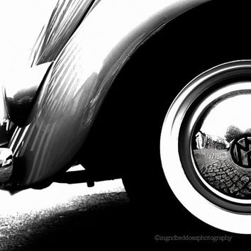VW Beetle, classic car photography, vintage car print, Volkswagen car abstract photography, black and white VW bug, abstract car, wall art
