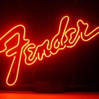 Fender Music Neon Sign