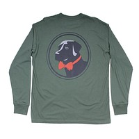 Original Logo Long Sleeve Tee in Duck Green by Southern Proper - FINAL SALE