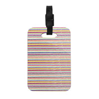 "Nika Martinez ""Summer Stripes"" Abstract Decorative Luggage Tag"