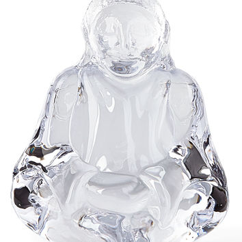 Glass Buddha Sculpture - Simon Pearce