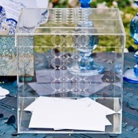 Circle Of Love Lucite Wedding Card Box – Personalization Options