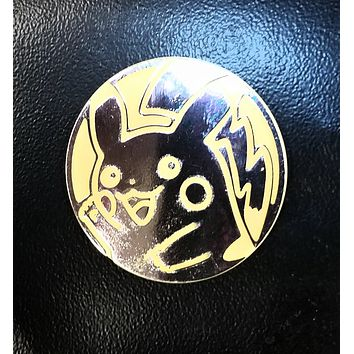 Pokemon Yellow and Silver Pikachu Collectible Coin New Ultra Rare Late Release XY Flashfire
