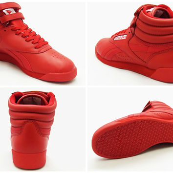 Reebok Reebok FREESTYLE HI SPIRIT freestyle high spirits red red Womens sneakers 14 FW