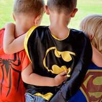 SUPERHERO CAPE - Superman, Batman, Spider man, Wonder Woman, Super Girl, Bat Girl, and Green Lantern child super hero capes