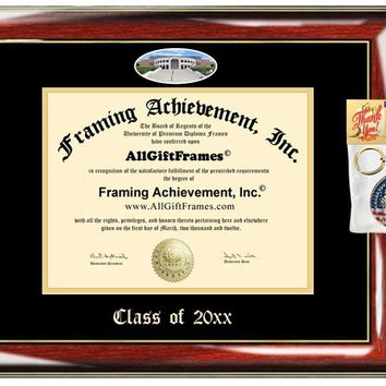 AllGiftFrames Custom Diploma Frame Embossed Best Kent State University Graduation Degree Frame KSU Double Mat Campus Fisheye Picture Frame Cheap Degree Certificate Graduate Gift