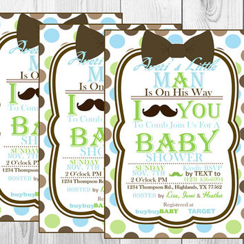 Lil Man Mustache Printable Package (YOU CHOOSE)