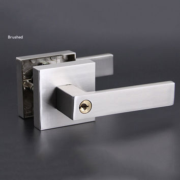 Single Bolt Lock Room Door Handles Interior Lock W/ 3Pcs Brass Keys 3 Colors Hm98