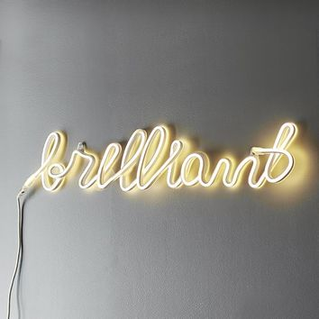 Brilliant Neon Wall Light